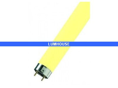 tube fluorescent t8 couleur jaune 18w sylvania anti insectes. Black Bedroom Furniture Sets. Home Design Ideas