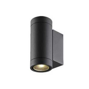 Applique led murale exterieur anthracite luxi 95 indigo for Applique eclairage exterieur